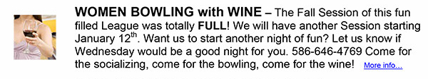 Women Bowling with Wine